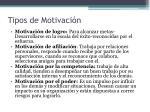 tipos de motivaci n