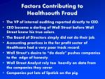 factors contributing to healthsouth fraud
