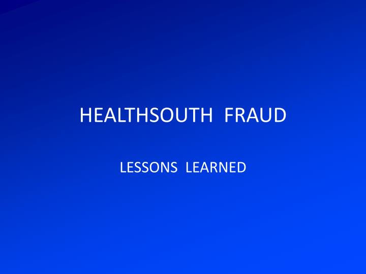healthsouth fraud n.