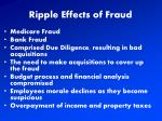 ripple effects of fraud