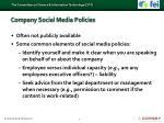 company social media policies
