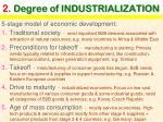 2 degree of industrialization