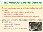 3 technology market demand