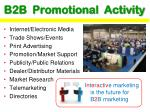 b2b promotional activity