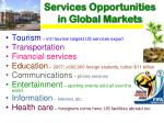 services opportunities in global markets