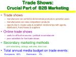 trade shows crucial part of b2b marketing