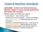 green nutrition standards