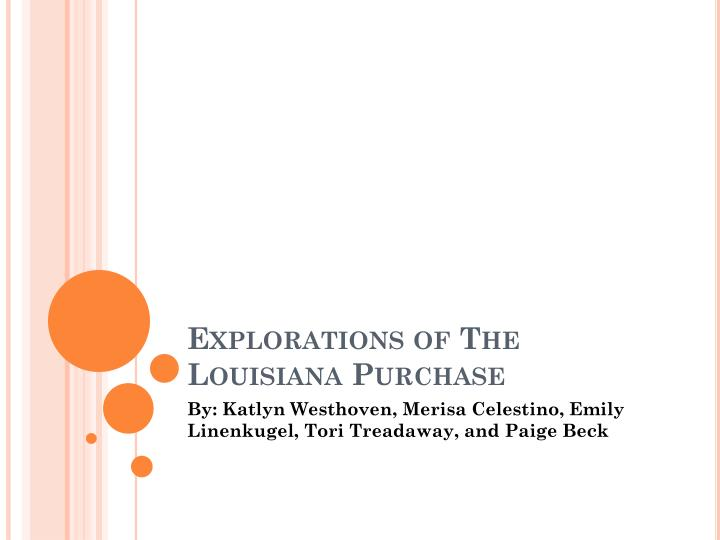 explorations of the louisiana purchase n.