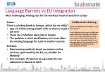 language barriers vs eu integration