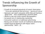 trends influencing the growth of sponsorship