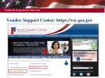 vendor support center https vsc gsa gov