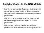 applying circles to the bcg matrix