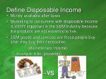 define disposable income