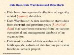 data base data warehouse and data marts1