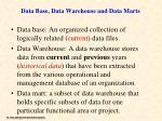 data base data warehouse and data marts2