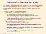 unsupervised vs supervised data mining
