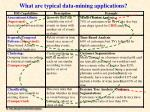 what are typical data mining applications