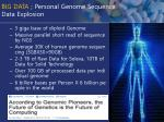 big data personal genome sequence data explosion
