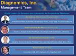 diagnomics inc management team