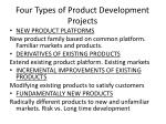 four types of product development projects