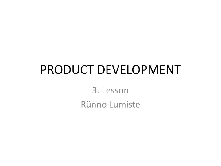 product development n.