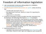 freedom of information legislation
