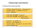 postscript comments