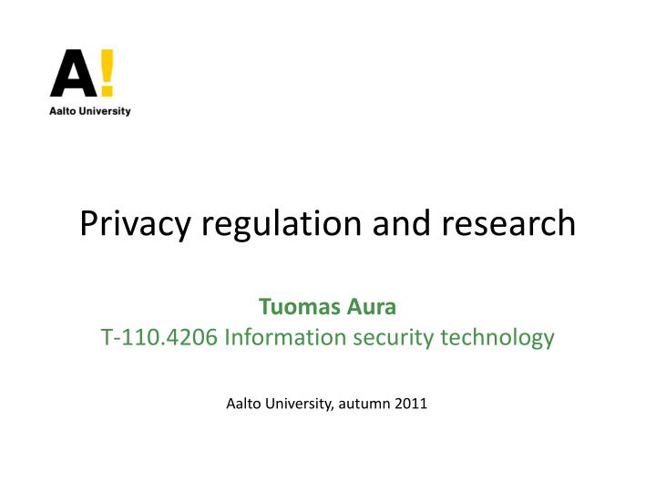 privacy regulation and research n.