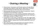 chairing a meeting