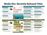 media kits recently released titles1