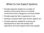when to use expert systems1