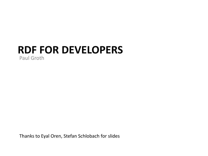 rdf for developers n.