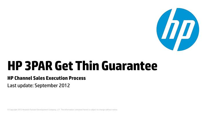 hp 3par get thin guarantee n.