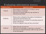 evaluating information sources1