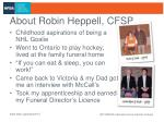 about robin heppell cfsp