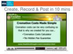 create record post in 10 mins