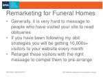 remarketing for funeral homes