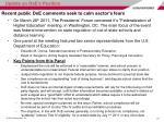 recent public doe comments seek to calm sector s fears