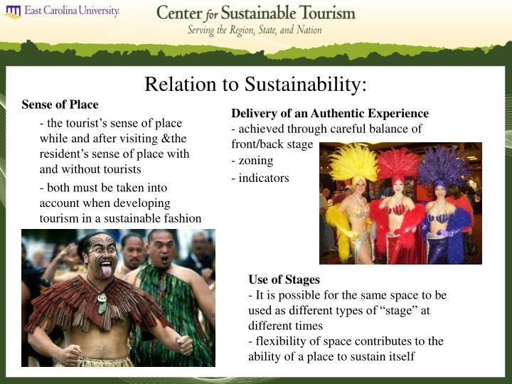 Relation to Sustainability: