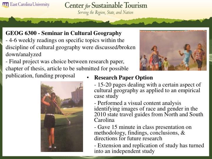 GEOG 6300 - Seminar in Cultural Geography