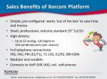sales benefits of xorcom platform