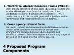 4 proposed program components