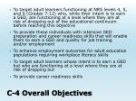 c 4 overall objectives