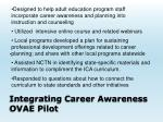 integrating career awareness ovae pilot1