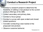 conduct a research project