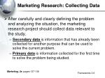 marketing research collecting data