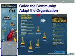 guide the community adapt the organization
