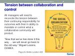 tension between collaboration and control