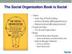 the social organization book is social