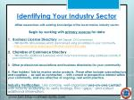 identifying your industry sector